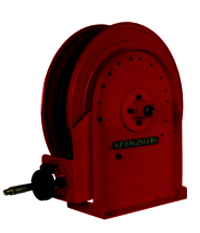 Single Stand Carbon Steel Oil Hose Reel