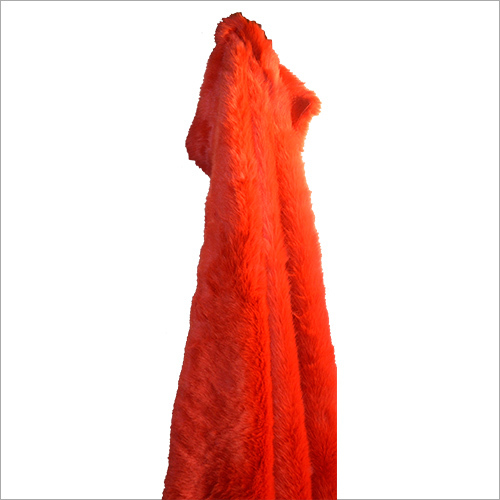 Red Artificial Fur Fabric