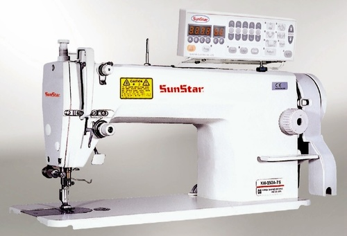 High speed, 1-needle, lock stitch sewing machine with automatic thread trimmer