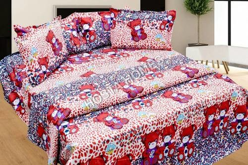 Teddy Print Bed Sheet