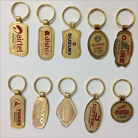 Metal Golden Band Keychain