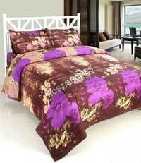 Coffee Color Poly Cotton Bed Sheet