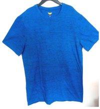 Mens Blue Round Neck T Shirts