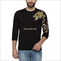 Golden Print Round Neck T Shirts