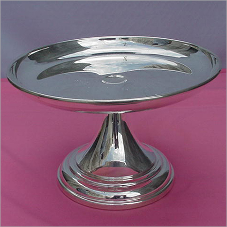 Brass Cake Stand (Nickle plated)