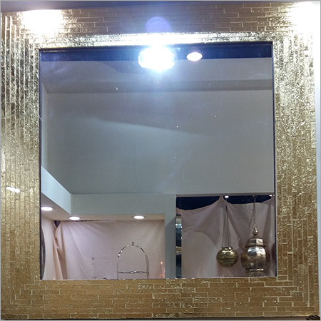 Golden Mosaic glass Mirror Frames