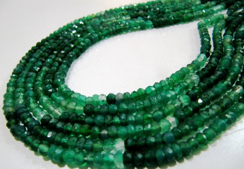 Natural Shaded Green Onyx Beads