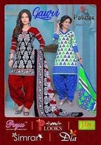 Cotton printed dress materials patidar gauri vol-1