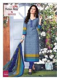 Cotton printed suits patidar mills queen vol-3