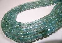 Natural Aquamarine Rondelle Faceted
