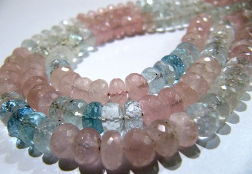Morganite Aquamarine Beads