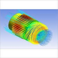 Fluid Flow Thermal Simulation Motor