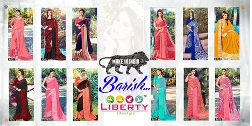 Designer Printed Satin Silk 9 Inch Patta Sarees