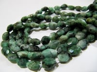 Natural Emerald Oval Faceted Beads