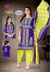 Cotton printed dress materials sakhi batik prints by devi