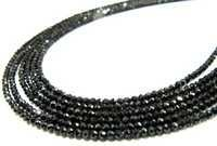Silver Coated Silver Coated Black Spinel Beads