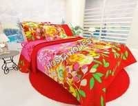 Floral & Leaf Printed Bed Sheet