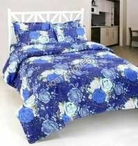 Blue Tuch Floral Bed Sheet