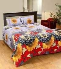 Floral Print Poly Cotton Bed Sheet New Design
