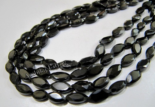 Natural Black Spinel Marquise Shape BeadS
