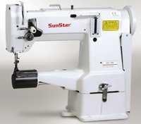 Cylinder bed, 1-needle, unison feed, lock stitch sewing machine with horizontal large hook