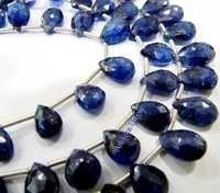 Natural Blue Sapphire Heart Shape Beads