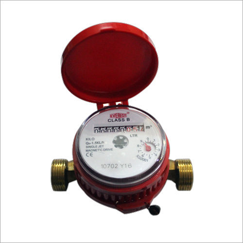 Single Jet Water Meter Class B Magnetic Drive DN15