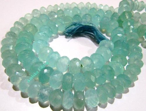 Natural Aqua Chalcedony Beads