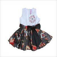 Girls Flower Print Frock