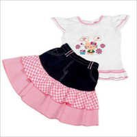 Girls Pink Skirt & Top