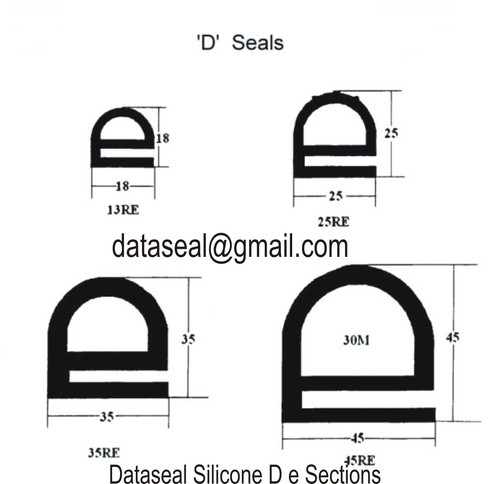 Silicone D seal