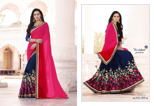 Embroidary Work Georgette Saree