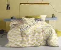White & Yellow Color Cotton Bed Sheet