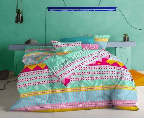 Multi Printed Cotton Bed Sheet