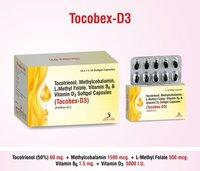 Tocotrienol 60 mg.+Vitamin B6+Methylcobalamin 1500 mcg.+L-methyl folate 400 mcg.