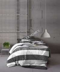White & Black Color Cotton Bed Sheet