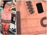 Cotton work patiyala suits