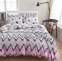 Multicolor Abstract Design Cotton Comforter Set 4 Pcs