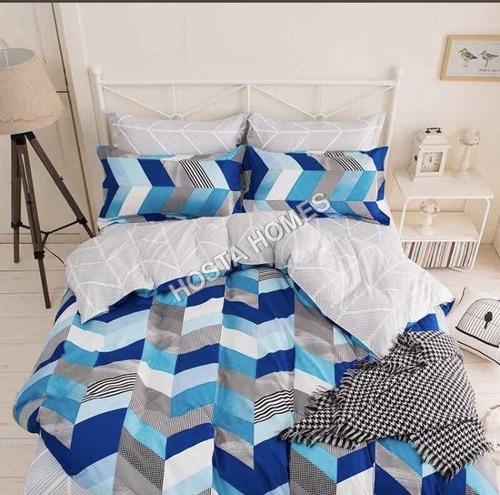 Multicolor Abstract Design Cotton Comforter Set 4 Pcs
