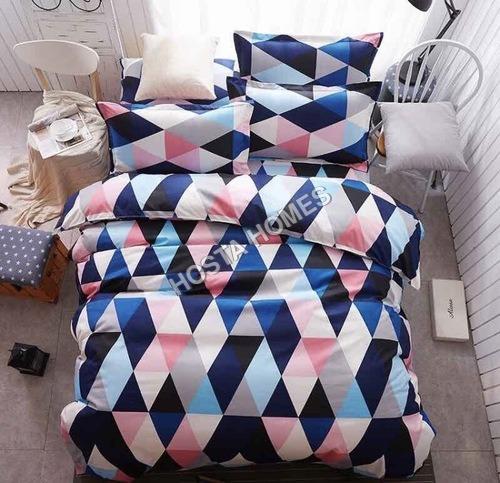 Abstract Design Cotton Multicolor Comforter Set 4 Pcs