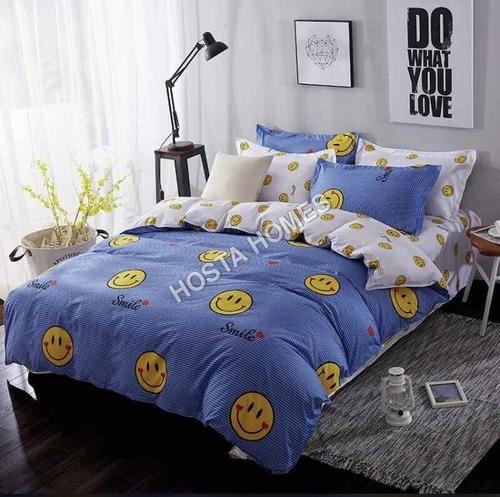 Smile Simble Cotton Comforter Set 4 Pcs