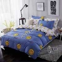 Smile Simble Cotton Comforter Set 4 Pcs