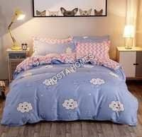 Raining Design Cotton Comforter Set 4 Pcs