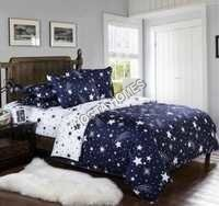 Stars Design Multiclor Cotton Comforter Set 4 Pcs