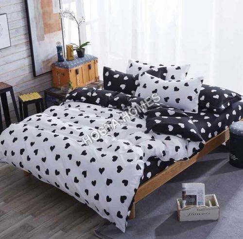 Black & White Color Cotton Comforter Set 4 Piece