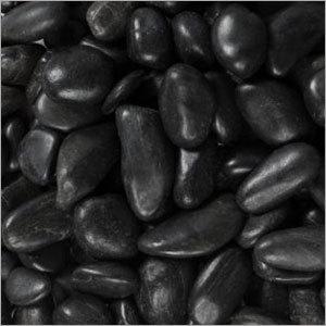 Black  Colour Aquarium Pebble