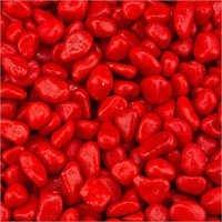 Red Colour Aquarium Pebble