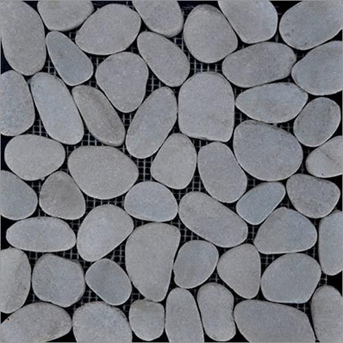 Laser Pebble White Marble