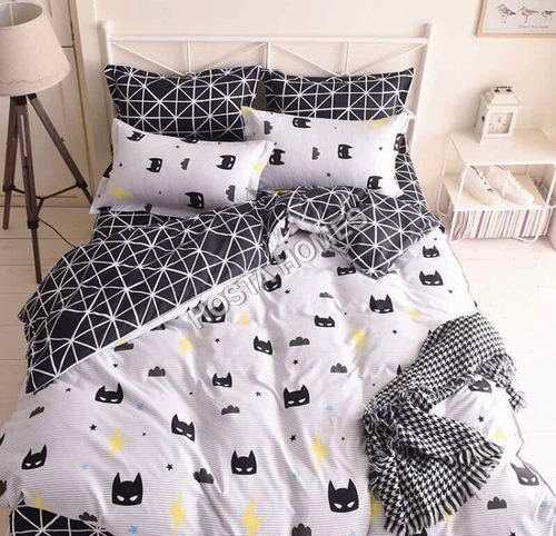 New Design Black & White Color Cotton Comforter Set 4 Piece