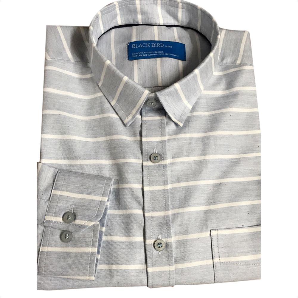 Men's Black Bird Cotton Shirt